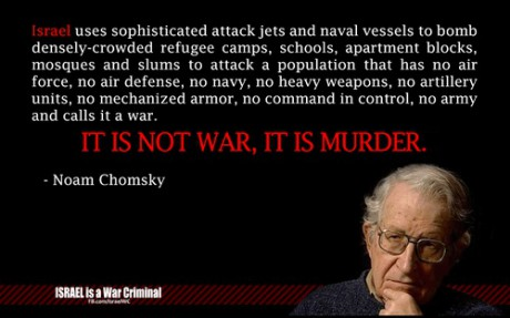 Gaza : Noam Chomsky remet les choses au clair