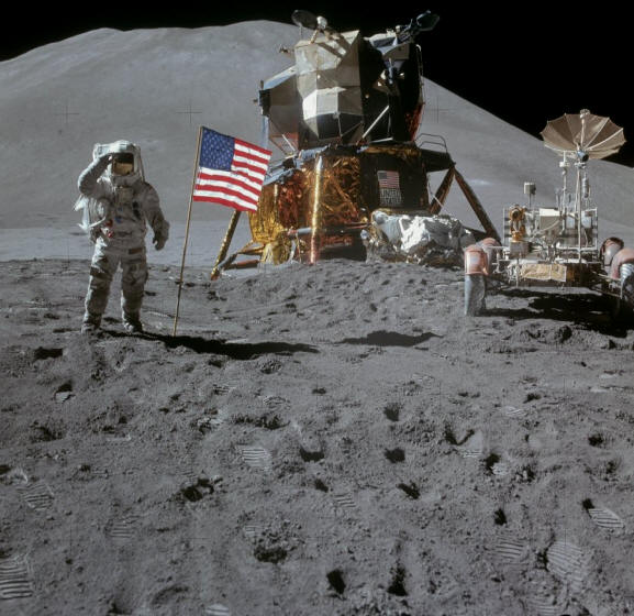 La sonde indienne a pris une photo claire d'Apollo 15 au grand dam des conspirationnistes