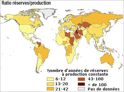 Oil reserves in the world. Another 40 years?